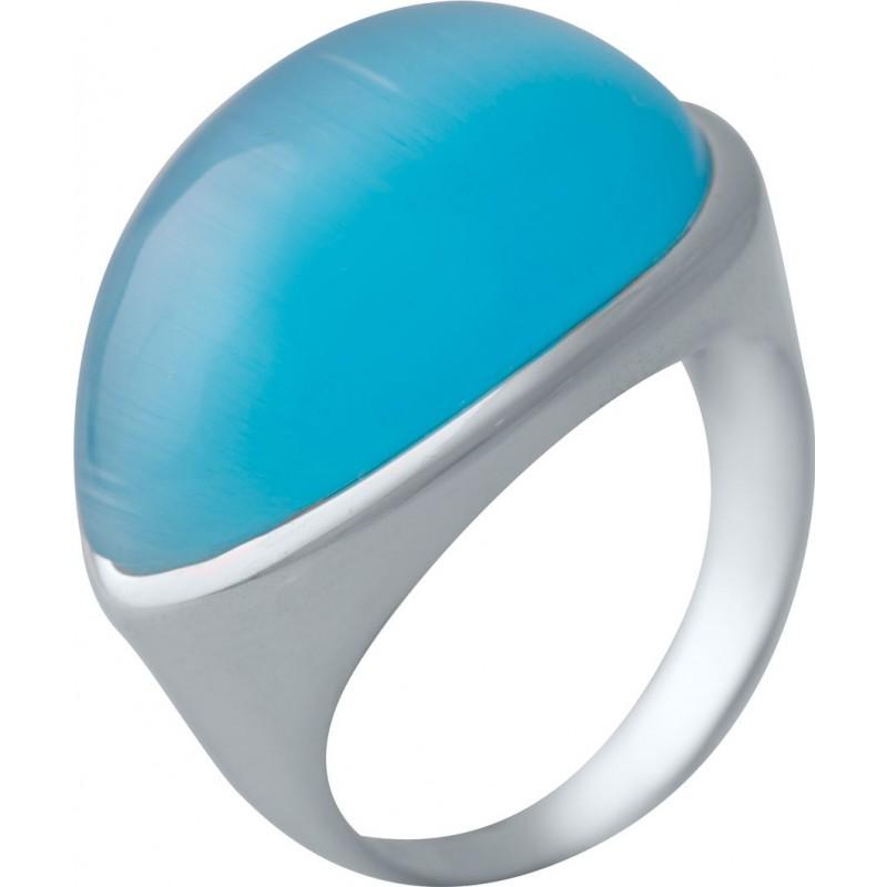 Серебряное кольцо SilverBreeze с кошачим глазом (2006671) 18 размер