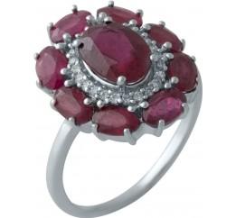 Серебряное кольцо SilverBreeze с натуральным рубином (2009948) 18 размер
