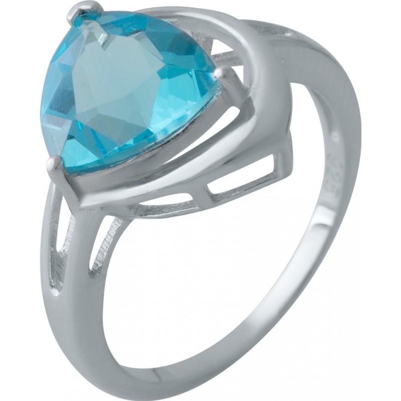 Серебряное кольцо SilverBreeze с аквамарином nano (2011835) 18.5 размер