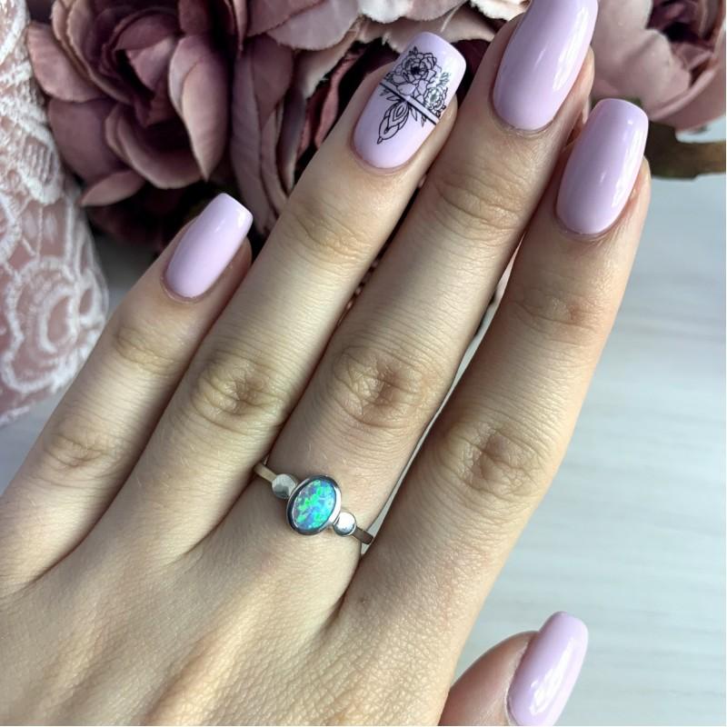 Серебряное кольцо SilverBreeze с опалом (2011897) 18 размер