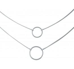 Серебряное колье SilverBreeze без камней (2014331) 440 размер
