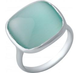 Серебряное кольцо SilverBreeze с кошачим глазом (2015123) 17 размер