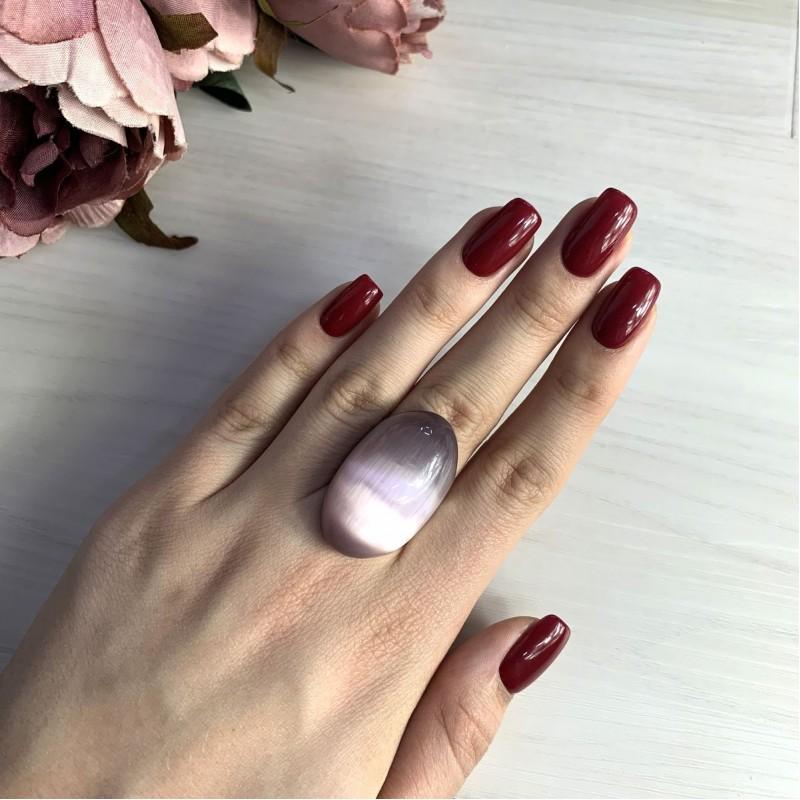 Серебряное кольцо SilverBreeze с кошачим глазом (2015451) 17.5 размер