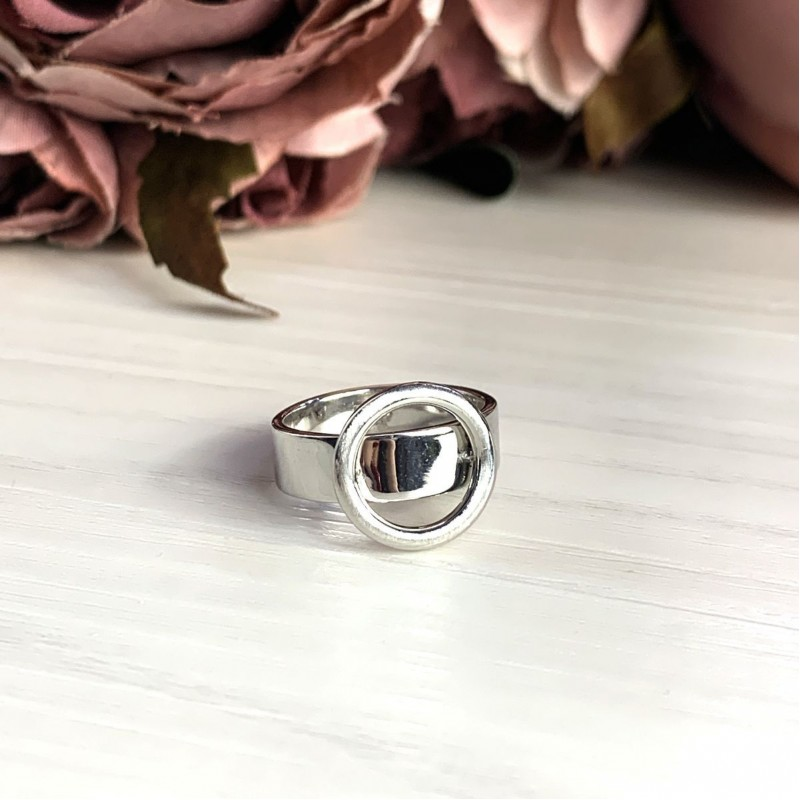 Серебряное кольцо SilverBreeze без камней (2016304) 19 размер
