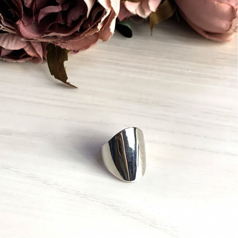 Серебряное кольцо SilverBreeze без камней (2016359) 17 размер