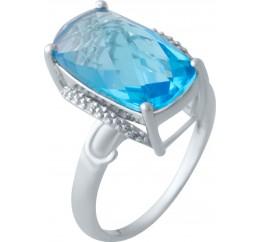 Серебряное кольцо SilverBreeze с аквамарином nano (2016618) 16.5 размер
