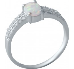Серебряное кольцо SilverBreeze с опалом (2018223) 16.5 размер