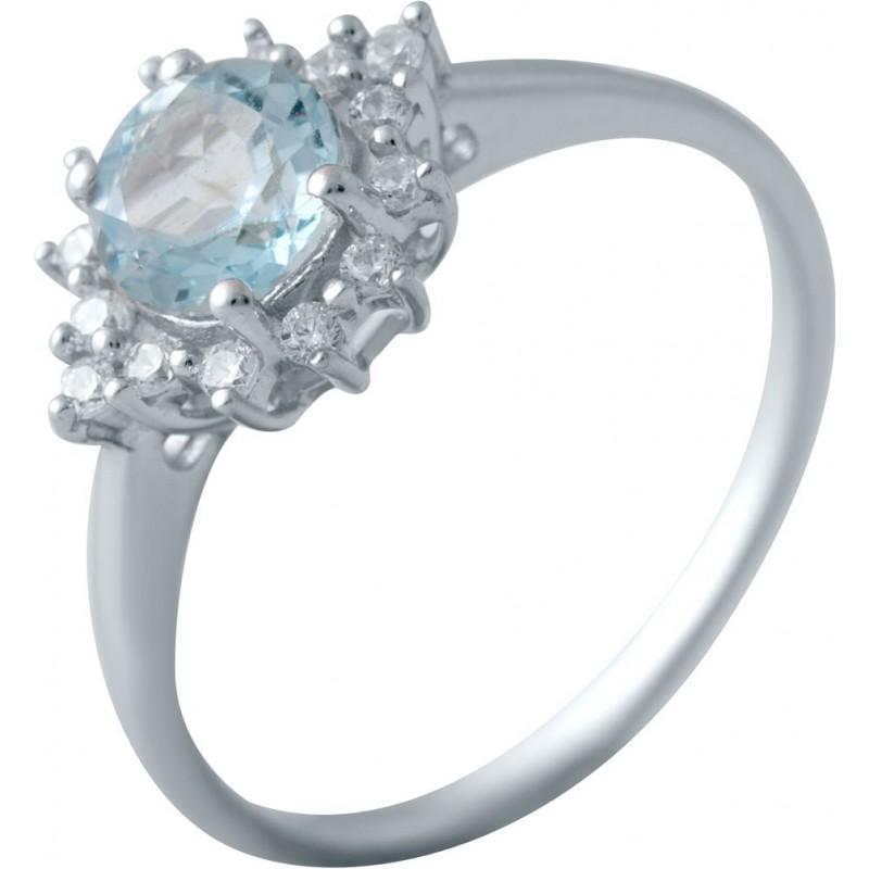 Серебряное кольцо SilverBreeze с натуральным топазом (2018896) 16.5 размер