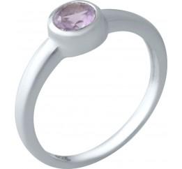 Серебряное кольцо SilverBreeze с натуральным аметистом (2020790) 16.5 размер