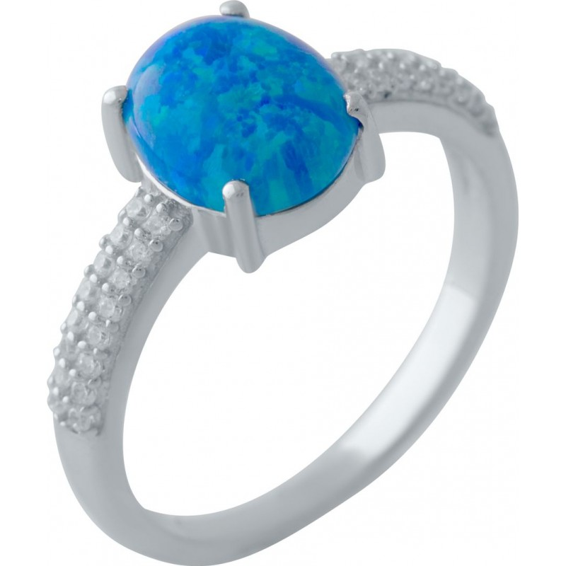 Серебряное кольцо SilverBreeze с опалом (2024262) 17 размер