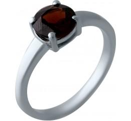 Серебряное кольцо SilverBreeze с натуральным гранатом (2024576) 17.5 размер