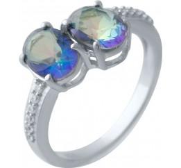 Серебряное кольцо SilverBreeze с натуральным мистик топазом (2025030) 17.5 размер