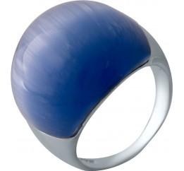 Серебряное кольцо SilverBreeze с кошачим глазом (2026518) 18 размер