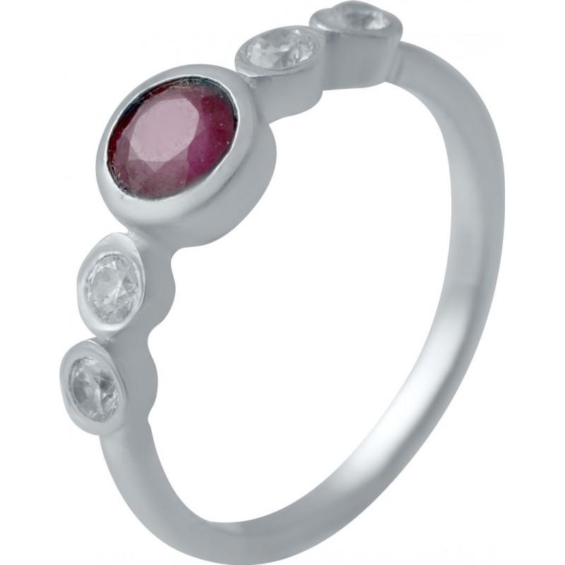 Серебряное кольцо SilverBreeze с натуральным рубином (2027089) 17 размер
