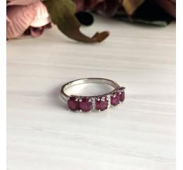 Серебряное кольцо SilverBreeze с натуральным рубином (2027843) 17 размер