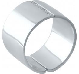 Серебряное кольцо SilverBreeze с фианитами (2029502) 16.5 размер