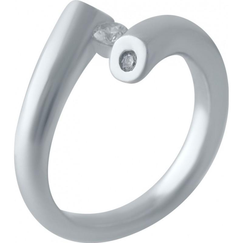 Серебряное кольцо SilverBreeze с фианитами (2029540) 16.5 размер