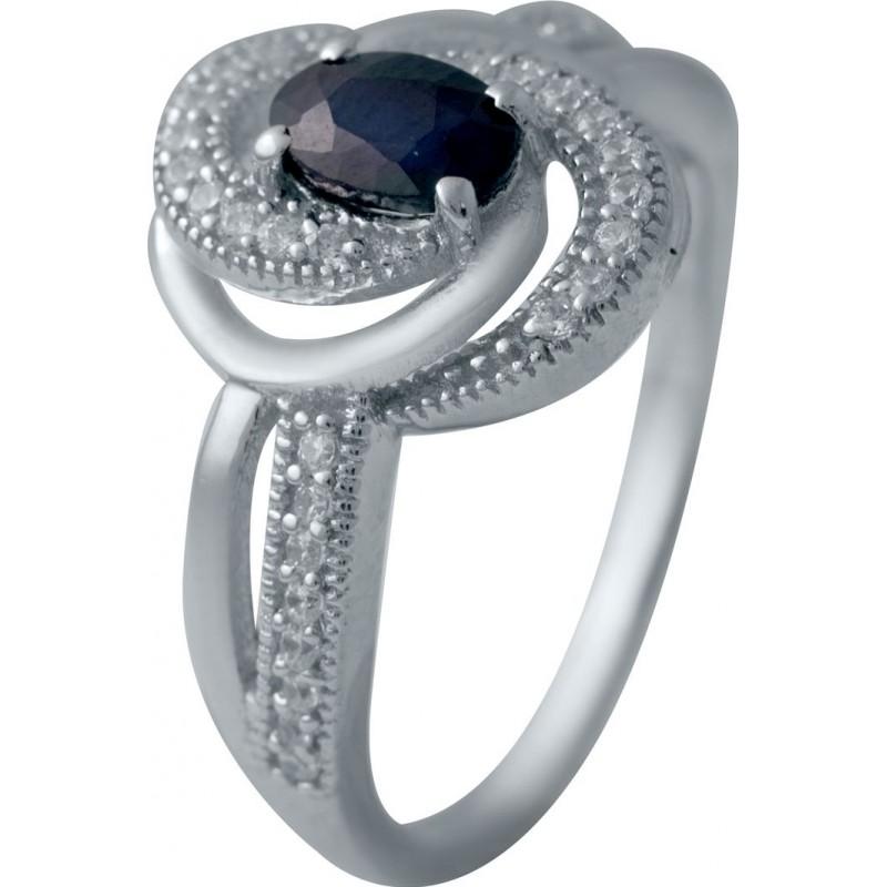 Серебряное кольцо SilverBreeze с натуральным сапфиром (2030218) 17.5 размер