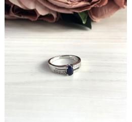Серебряное кольцо SilverBreeze с натуральным сапфиром (2030362) 17 размер