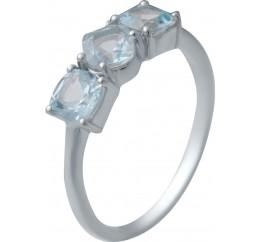 Серебряное кольцо SilverBreeze с натуральным топазом (2030676) 17.5 размер