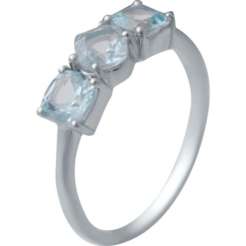 Серебряное кольцо SilverBreeze с натуральным топазом (2030676) 17 размер