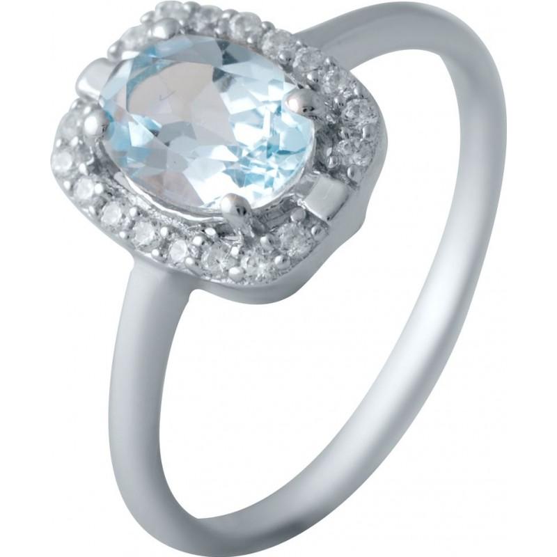 Серебряное кольцо SilverBreeze с натуральным топазом (2030683) 18 размер