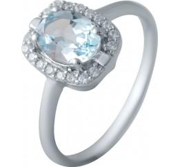 Серебряное кольцо SilverBreeze с натуральным топазом (2030683) 17.5 размер