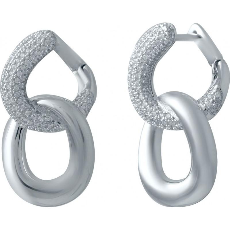 Серебряные серьги SilverBreeze с фианитами (2031192)