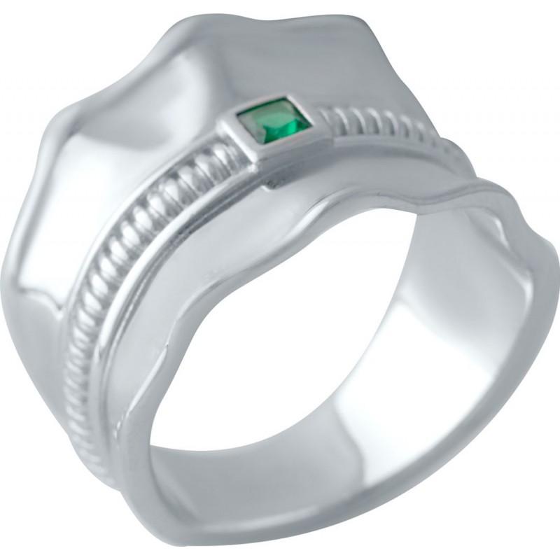 Серебряное кольцо SilverBreeze с фианитами (2031451) 17 размер