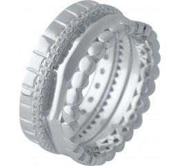 Серебряное кольцо SilverBreeze с фианитами (2031574) 18.5 размер