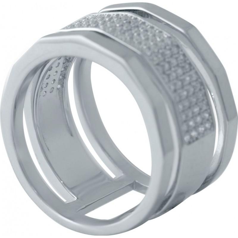 Серебряное кольцо SilverBreeze с фианитами (2031659) 18 размер