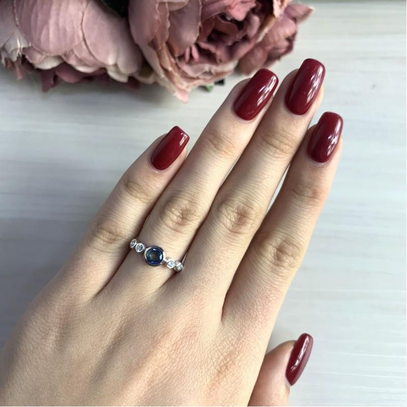 Серебряное кольцо SilverBreeze с натуральным мистик топазом (2032083) 18 размер