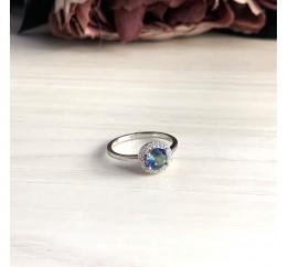 Серебряное кольцо SilverBreeze с натуральным мистик топазом (2032182) 17.5 размер