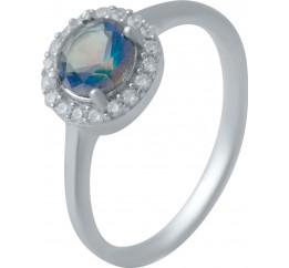 Серебряное кольцо SilverBreeze с натуральным мистик топазом (2032182) 17 размер
