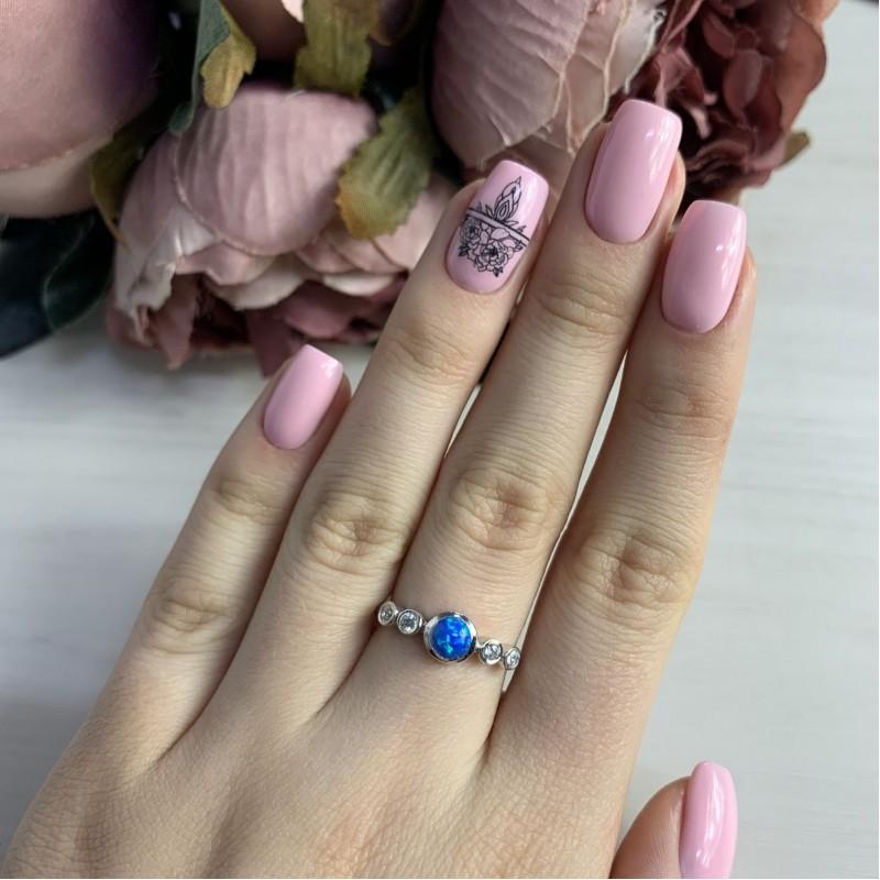 Серебряное кольцо SilverBreeze с опалом (2034605) 17 размер