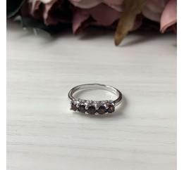Серебряное кольцо SilverBreeze с натуральным гранатом (2035152) 16.5 размер