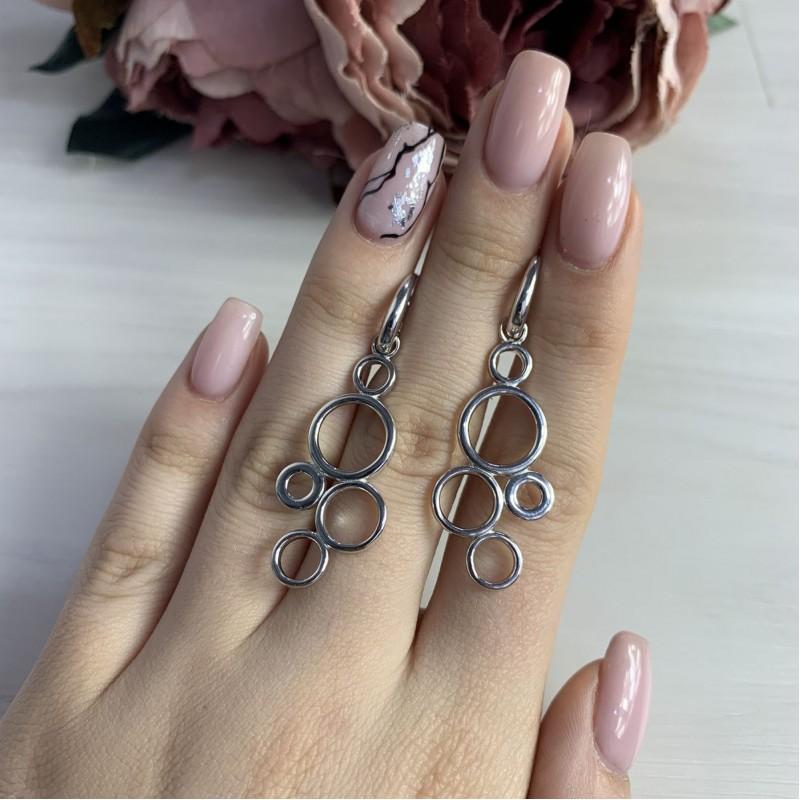 Серебряные серьги SilverBreeze без камней (2035275)