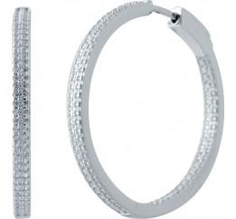 Серебряные серьги SilverBreeze с фианитами (2035282)