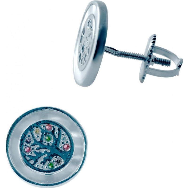 Серебряные серьги SilverBreeze с натуральным перламутром (2035350)