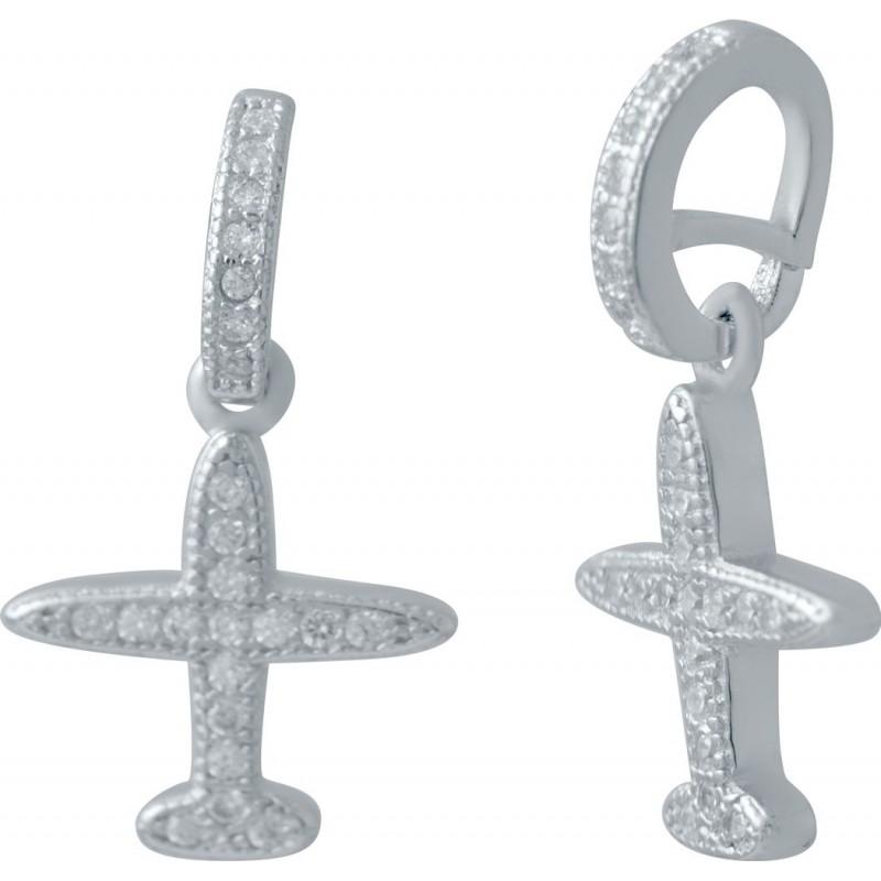 Серебряная подвеска SilverBreeze с фианитами (2036036)