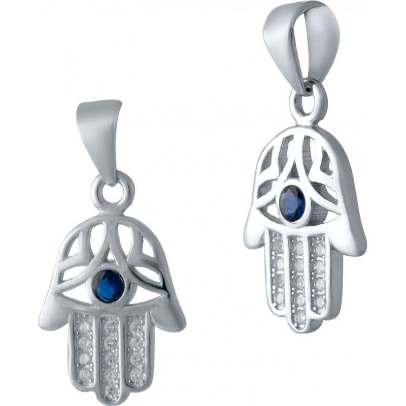 Серебряная подвеска SilverBreeze с фианитами (2036968)