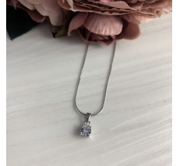 Серебряная подвеска SilverBreeze с бриллиантом (2042228)