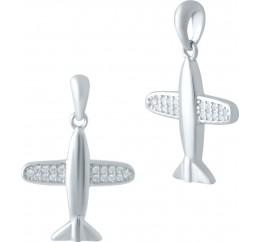 Серебряная подвеска SilverBreeze с фианитами (2044833)