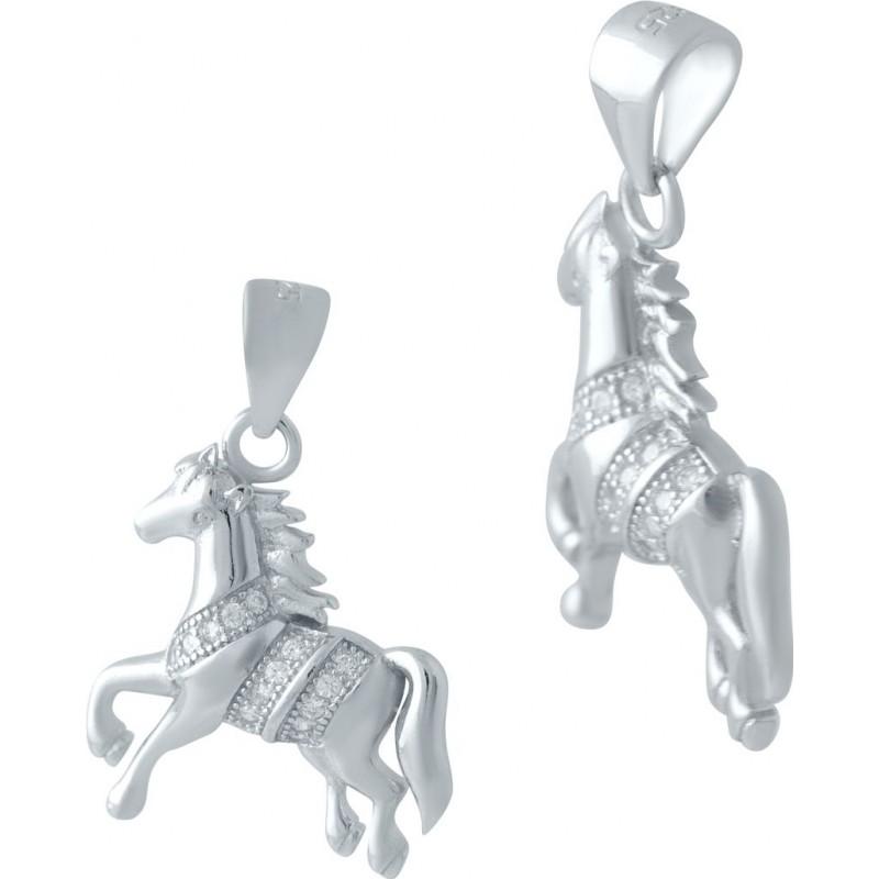 Серебряная подвеска SilverBreeze с фианитами (2044840)