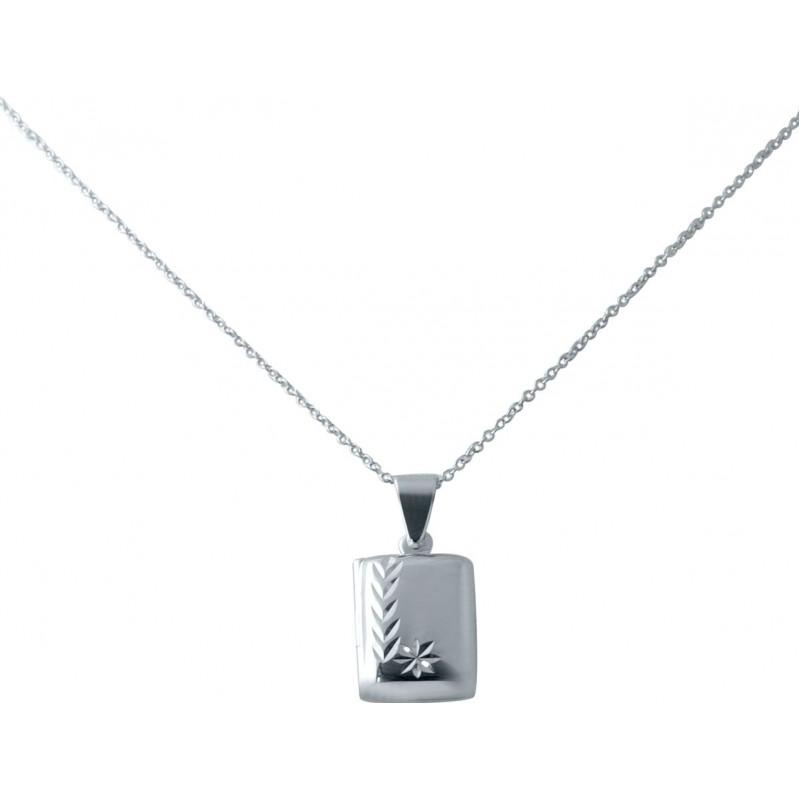 Серебряное колье SilverBreeze без камней (2038535) 450 размер