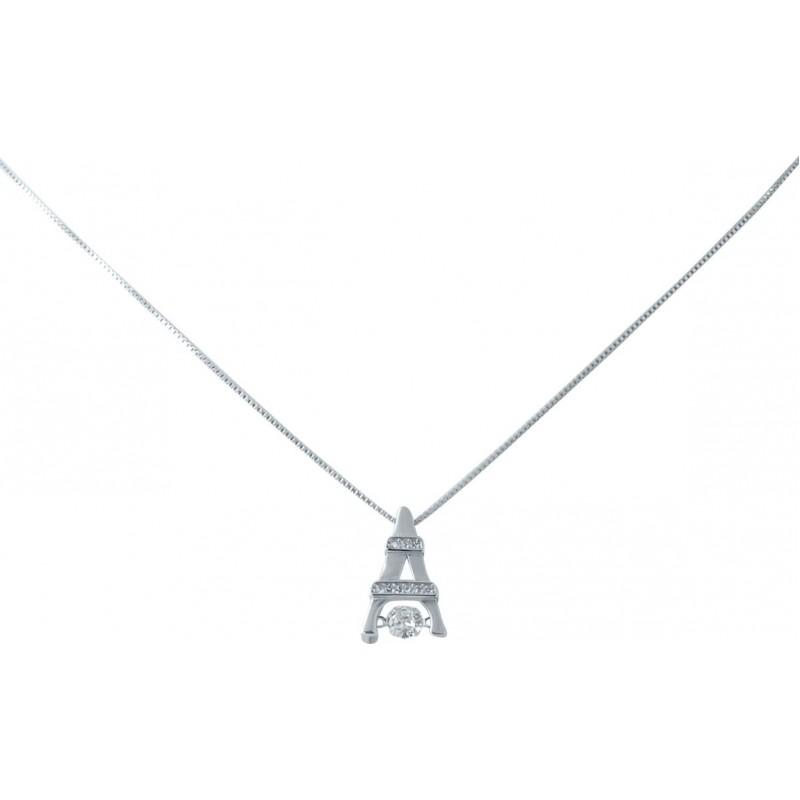 Серебряное колье SilverBreeze с фианитами (2038429) 450 размер