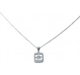 Серебряное колье SilverBreeze с фианитами (2038481) 450 размер