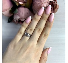 Серебряное кольцо SilverBreeze без камней (2038610) 16.5 размер