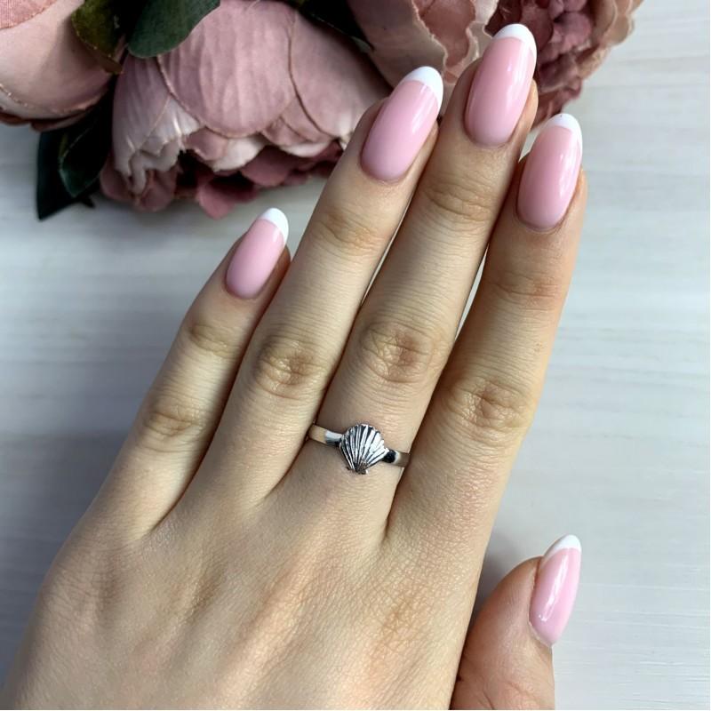 Серебряное кольцо SilverBreeze без камней (2038627) 17.5 размер