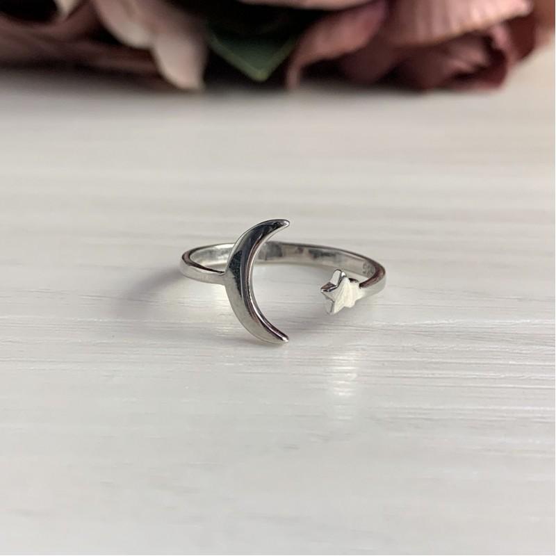 Серебряное кольцо SilverBreeze без камней (2044925) 18.5 размер
